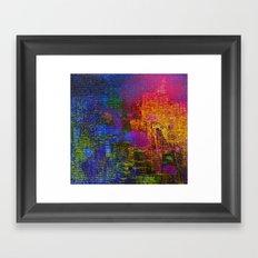 abstract tapestry Framed Art Print