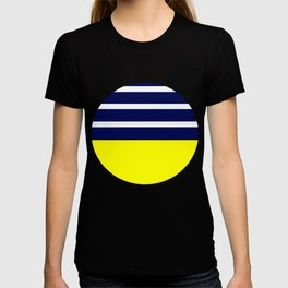 Summer Patio Perfect, Yellow, White & Navy T-shirt