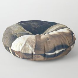 'Overflow,' Female Nude Portrait painting by Andrew Wyeth Floor Pillow