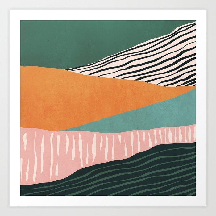 Modern irregular Stripes 02 Art Print