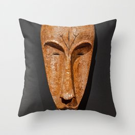 african Fang Ngil wooden mask Throw Pillow