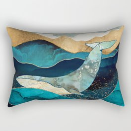 Blue Whale Rectangular Pillow