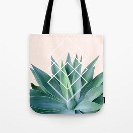 Agave geometrics - peach Tote Bag