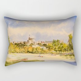 Windsor Castle And River Thames Rectangular Pillow