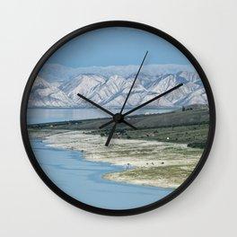 Landscape in Kyrgyzstan Wall Clock