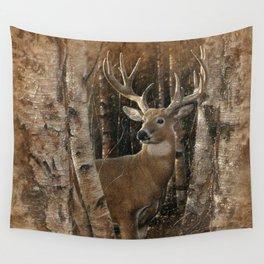 Deer - Birchwood Buck Wall Tapestry