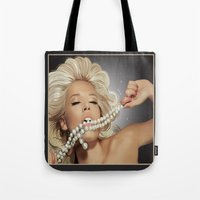 sam smith Tote Bags featuring Sam by Robin Curtiss