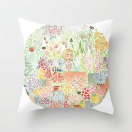 The Florist Throw Pillow