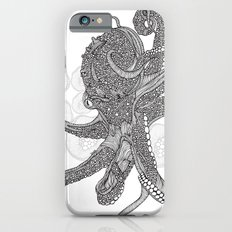 Octopus Bloom black and white Slim Case iPhone 6s