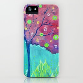 Magenta Tree iPhone Case