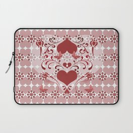 Folk Art Heart and Swirls Laptop Sleeve
