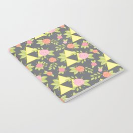 Garden of Power, Wisdom, and Courage Pattern in Grey Notebook
