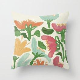 Flower Market Bologna Throw Pillow