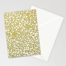 fall golden paisley Stationery Cards