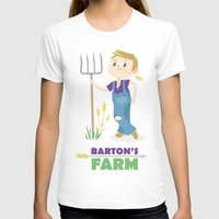 clint barton T-shirts featuring Clint Barton the Farmer by Alice Wieckowska