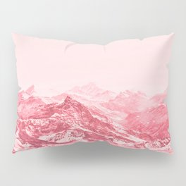 Mountains Red Pillow Sham