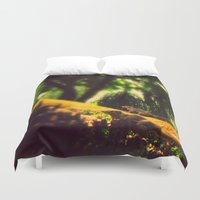 climbing Duvet Covers featuring Climbing up. by BlacknWhite