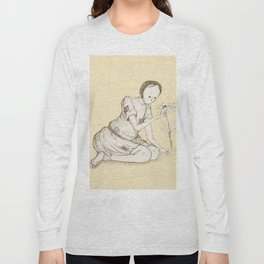 Doll With Flower Long Sleeve T-shirt