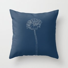 Gerbera Blueprint Throw Pillow