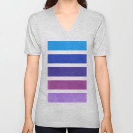 Blue & Purple Pattern Unisex V-Neck