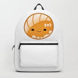 Orange Concha Pan Dulce Backpack