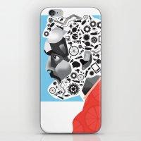 stanley kubrick iPhone & iPod Skins featuring Stan the Man: Stanley Kubrick by kelsea everett