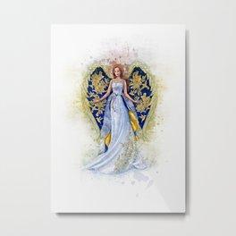 Floral Angel Metal Print