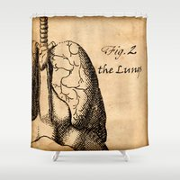 lungs Shower Curtains featuring Figure 2 the Lungs by NeverlandDream