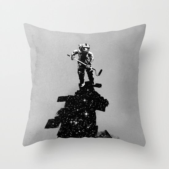 Negative Space Throw Pillow