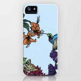 Hummingbird Garden Paper-cut  iPhone Case