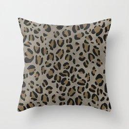 Scene Kid Leopard Print (NEUTRAL) Throw Pillow