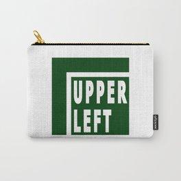Upperleft Green Carry-All Pouch