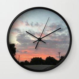 Sunset Drive Wall Clock