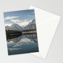 Image USA Oxbow Bend Grand Teton Wyoming Nature mountain Lake Parks Mountains park Stationery Cards