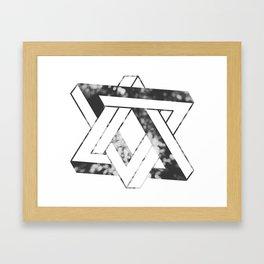 Impossible star Framed Art Print