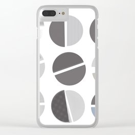 Studious Circles Clear iPhone Case