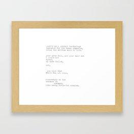 untitled (after 'the waste land') Framed Art Print