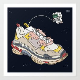 space sneaker 3 Art Print