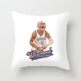 HUSTLE WESTBROOK! Throw Pillow