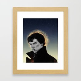 racing mind & human heart - Sherlock Holmes Framed Art Print