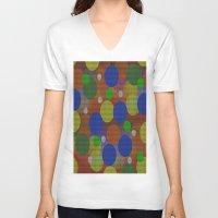 circles V-neck T-shirts featuring Circles by Sartoris ART