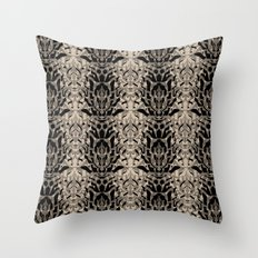 Tiger skin background Throw Pillow