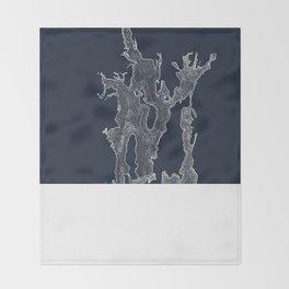 Narragansett Bay Indigo Throw Blanket