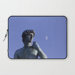 David and the moon - La vita è bella in Firenze - Fine Art Travel Photography Laptop Sleeve