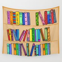 library Wall Tapestries featuring The library by andy_panda_
