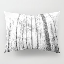 Black and white tree photography - Watercolor series #3 Pillow Sham