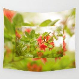 Azalea Il Tasso flowers red Wall Tapestry