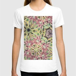 Green and Pink Succulent T-shirt