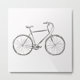 Simple bike 3 Metal Print