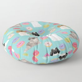 Pekingese dog breed dog pattern pet portraits donut food dog breeds pet friendly Floor Pillow